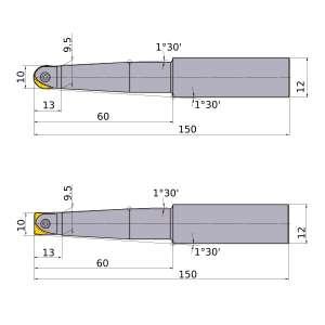 Mitsubishi-SRFH10S12L 10mm End Mill (SRFH10S12L)