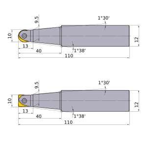 Mitsubishi-SRFH10S12M 10mm End Mill (SRFH10S12M)