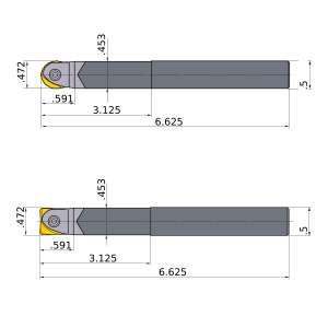 Mitsubishi-SRFU08S08LW 0.472 End Mill (SRFU08S08LW)