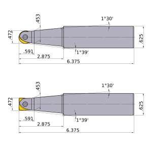 Mitsubishi-SRFU08S10L 0.472 End Mill (SRFU08S10L)
