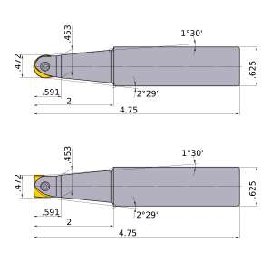 Mitsubishi-SRFU08S10M 0.472 End Mill (SRFU08S10M)
