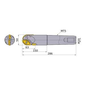 Mitsubishi-SRM2500MNLM 50mm End Mill (SRM2500MNLM)