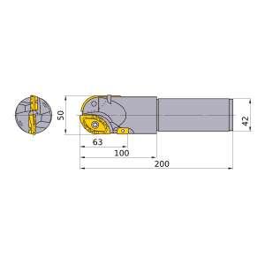 Mitsubishi-SRM2500SNLS 50mm End Mill (SRM2500SNLS)