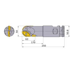 Mitsubishi-SRM2500WNLM 50mm End Mill (SRM2500WNLM)