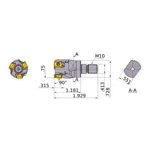 Mitsubishi-VPX200UR1203AM1030 0.75 End Mill (VPX200UR1203AM1030)