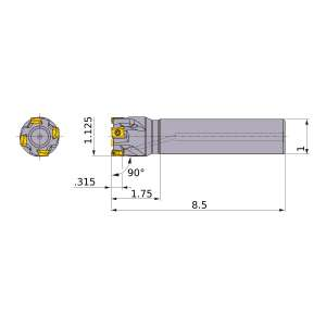 Mitsubishi-VPX200UR1803SA16L 1.125 End Mill (VPX200UR1803SA16L)