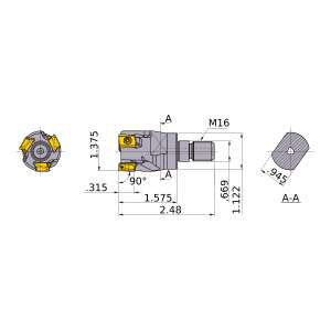 Mitsubishi-VPX200UR2205AM1640 1.375 End Mill (VPX200UR2205AM1640)