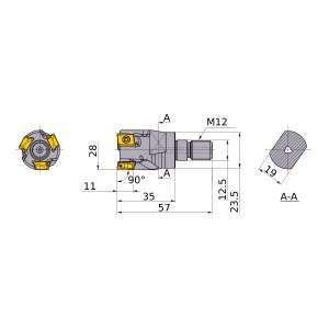Mitsubishi-VPX300R2802AM1235 28mm End Mill (VPX300R2802AM1235)
