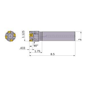 Mitsubishi-VPX300UR1802SA16L 1.125 End Mill (VPX300UR1802SA16L)