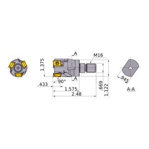 Mitsubishi-VPX300UR2203AM1640 1.375 End Mill (VPX300UR2203AM1640)