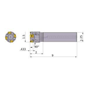 Mitsubishi-VPX300UR2403SA20L 1.5 End Mill (VPX300UR2403SA20L)