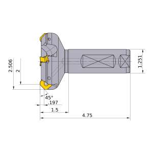 Mitsubishi-WSX445UR3204FA20M 2 End Mill (WSX445UR3204FA20M)