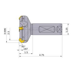 Mitsubishi-WSX445UR4005FA20M 2.5 End Mill (WSX445UR4005FA20M)