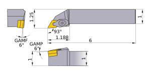 Mitsubishi DDJNR-163 Indexable Turning Holder forDN__33 Inserts