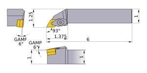 Mitsubishi DDJNR-164 Indexable Turning Holder forDN__43 Inserts