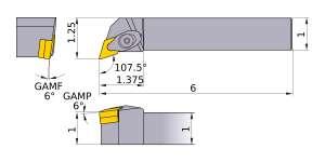 Mitsubishi DDQNR-164 Indexable Turning Holder forDN__43 Inserts