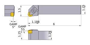 Mitsubishi DRGNL-204 Indexable Turning Holder forRN__43 Inserts