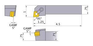 Mitsubishi MCLNR-124B Indexable Turning Holder forCN__43 Inserts