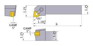 Mitsubishi MCLNR-204D Indexable Turning Holder forCN__43 Inserts