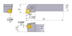 Mitsubishi MCLNR-244D Indexable Turning Holder forCN__43 Inserts