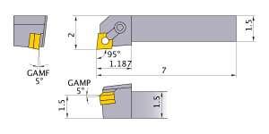 Mitsubishi MCLNR-244E Indexable Turning Holder forCN__43 Inserts