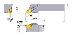 Mitsubishi MDJNL-205D Indexable Turning Holder forDN__54 Inserts