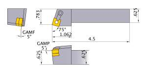 Mitsubishi MSRNR-103 Indexable Turning Holder forSN__32 Inserts