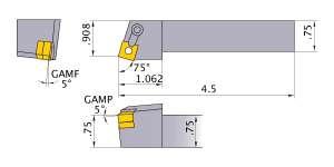Mitsubishi MSRNR-123 Indexable Turning Holder forSN__32 Inserts