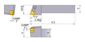 Mitsubishi MSRNR-83 Indexable Turning Holder forSN__32 Inserts
