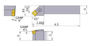 Mitsubishi MSSNL-83 Indexable Turning Holder forSN__32 Inserts