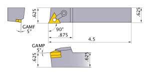 Mitsubishi MTANR-102 Indexable Turning Holder forTN__22 Inserts