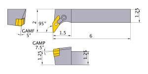 Mitsubishi MVLNR-204D Indexable Turning Holder forVN__43 Inserts