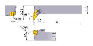 Mitsubishi MVLNR-244D Indexable Turning Holder forVN__43 Inserts