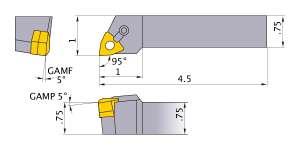 Mitsubishi MWLNR-1232 Indexable Turning Holder forWN__32 Inserts