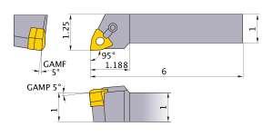 Mitsubishi MWLNR-1632 Indexable Turning Holder forWN__32 Inserts