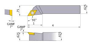 Mitsubishi SDJER-104 Indexable Turning Holder forDE__43 Inserts