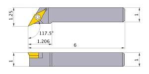 Mitsubishi SVPCR-163 Indexable Turning Holder forVC__33 Inserts