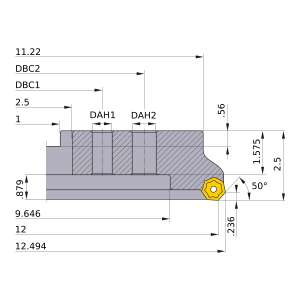 Mitsubishi-AHX640WL1228M 12 Face Mill (AHX640WL1228M)