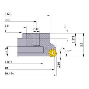 Mitsubishi-AHX640WR1024M 10 Face Mill (AHX640WR1024M)