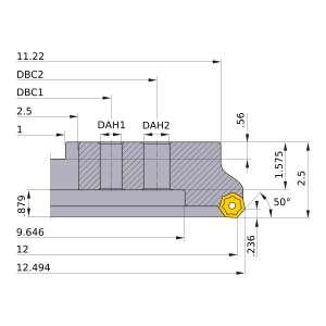 Mitsubishi-AHX640WR1242M 12 Face Mill (AHX640WR1242M)