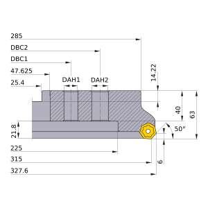 Mitsubishi-AHX640WR31528P 315mm Face Mill (AHX640WR31528P)