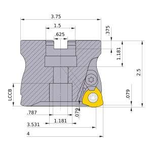 Mitsubishi-AJXU14R0405E 3.531 Face Mill (AJXU14R0405E)