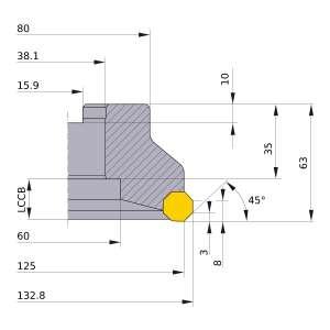 Mitsubishi-AOX445R12510E 125mm Face Mill (AOX445R12510E)