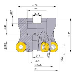 Mitsubishi-ARP6UPR0205AA 1.526 Face Mill (ARP6UPR0205AA)