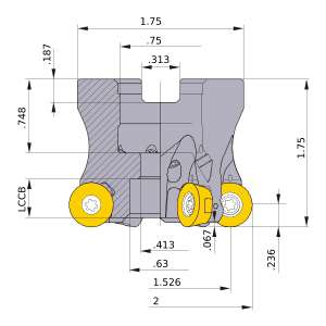 Mitsubishi-ARP6UPR0206AA 1.526 Face Mill (ARP6UPR0206AA)