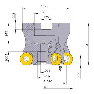 Mitsubishi-ARP6UPR0308CA 2.526 Face Mill (ARP6UPR0308CA)