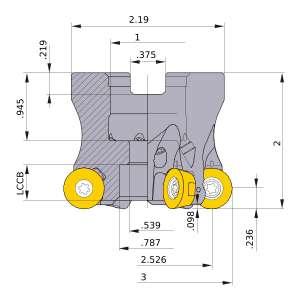 Mitsubishi-ARP6UPR0309CA 2.526 Face Mill (ARP6UPR0309CA)