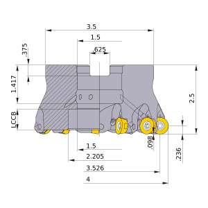 Mitsubishi-ARP6UPR0409EA 3.526 Face Mill (ARP6UPR0409EA)