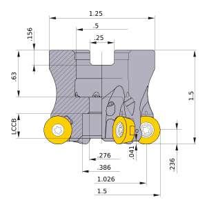 Mitsubishi-ARP6UPR1504SA 1.026 Face Mill (ARP6UPR1504SA)
