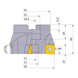Mitsubishi-ASX400-050A03R 50mm Face Mill (ASX400-050A03R)